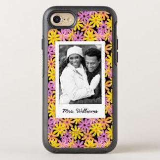 Photo & Name Gerbera flowers pattern OtterBox Symmetry iPhone 8/7 Case