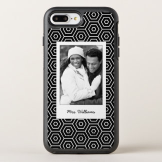 Photo & Name Hexagonal geometric pattern OtterBox Symmetry iPhone 8 Plus/7 Plus Case