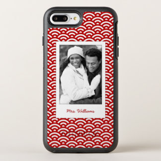 Photo & Name Japanese pattern OtterBox Symmetry iPhone 7 Plus Case