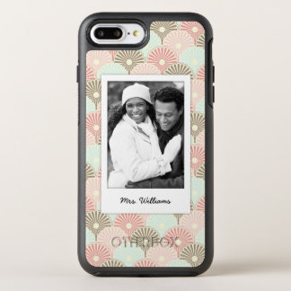 Photo & Name Japanese vintage pattern OtterBox Symmetry iPhone 8 Plus/7 Plus Case
