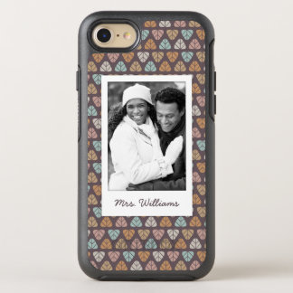 Photo & Name Leaf pattern 2 OtterBox Symmetry iPhone 8/7 Case
