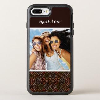 Photo & Name Leaves pattern OtterBox Symmetry iPhone 8 Plus/7 Plus Case