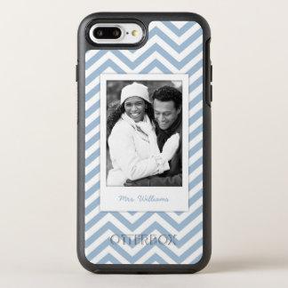 Photo & Name Light Blue Chevron OtterBox Symmetry iPhone 7 Plus Case