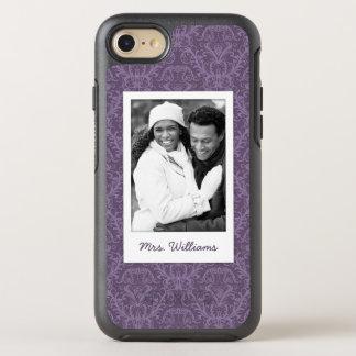 Photo & Name Luxury Purple Wallpaper OtterBox Symmetry iPhone 8/7 Case