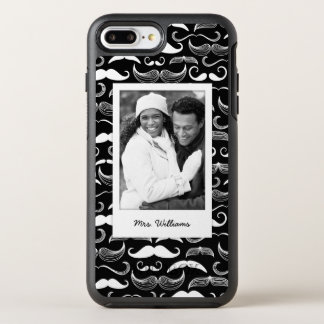 Photo & Name Mustache pattern OtterBox Symmetry iPhone 8 Plus/7 Plus Case
