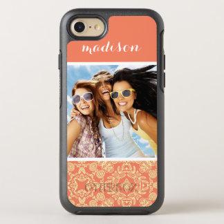 Photo & Name on Vintage Background OtterBox Symmetry iPhone 8/7 Case