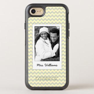Photo & Name Pastel Chevron Pattern OtterBox Symmetry iPhone 8/7 Case