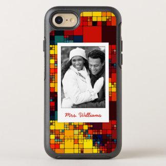 Photo & Name rainbow geometric pattern OtterBox Symmetry iPhone 8/7 Case