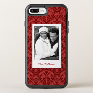 Photo & Name Red Wallpaper OtterBox Symmetry iPhone 7 Plus Case
