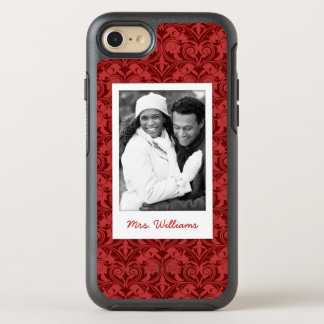 Photo & Name Red Wallpaper OtterBox Symmetry iPhone 8/7 Case
