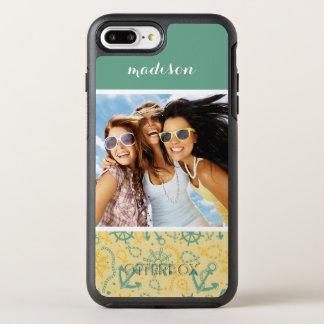 Photo & Name Retro Anchor & Ropes OtterBox Symmetry iPhone 8 Plus/7 Plus Case