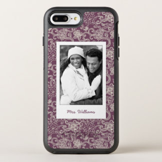 Photo & Name Retro pattern OtterBox Symmetry iPhone 8 Plus/7 Plus Case