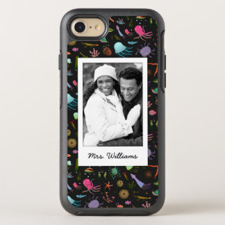 Photo & Name Sea Critters Pattern OtterBox Symmetry iPhone 7 Case
