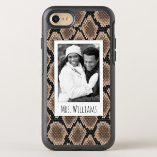 Photo & Name Snake skin OtterBox Symmetry iPhone 8/7 Case