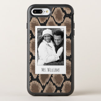 Photo & Name Snake skin OtterBox Symmetry iPhone 8 Plus/7 Plus Case