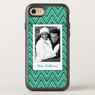Photo & Name Zig Zag Striped Background OtterBox Symmetry iPhone 8/7 Case