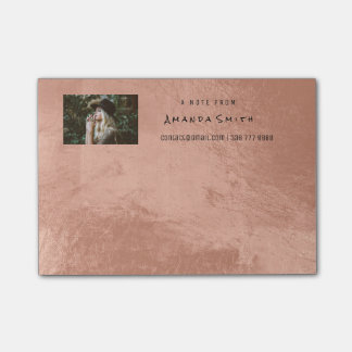 Photo Note Name Ocean Rose Gold Metallic