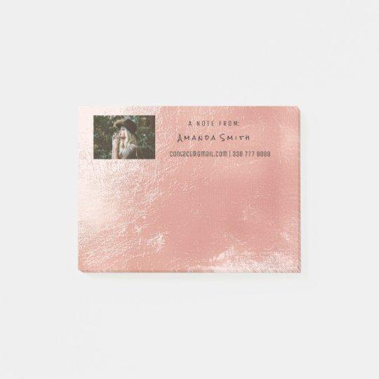 Photo Note Name Ocean Rose Pink Metallic