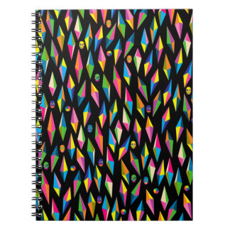 Photo Notebook/Abstract Diamond Shapes and Skulls Notebooks