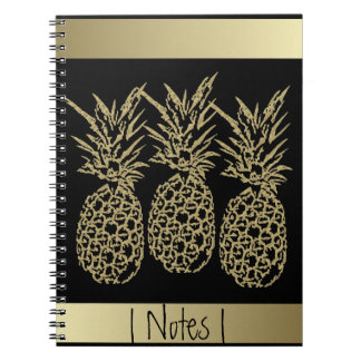 Photo notebook with spiral Pineapple Gold