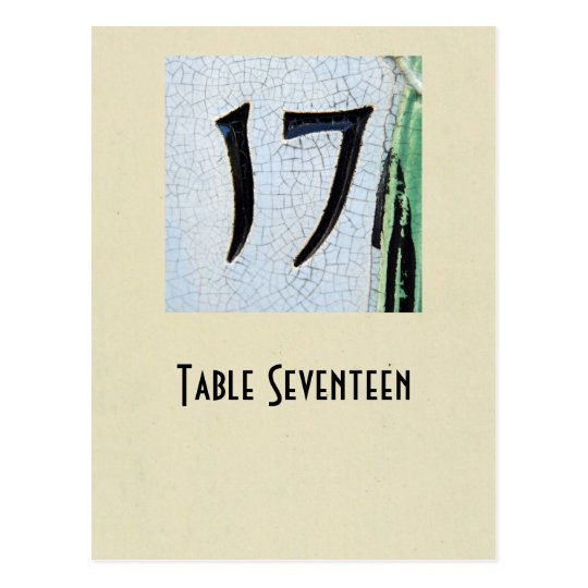 Photo number 17 table card