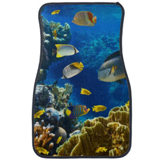Photo of a tropical Fish on a coral reef Car Mat