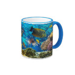 Photo of a tropical Fish on a coral reef Ringer Mug