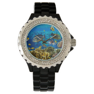 Photo of a tropical Fish on a coral reef Wristwatch