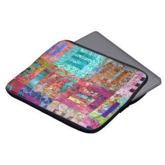 Photo Of Batik Quilt Squares Laptop Sleeve