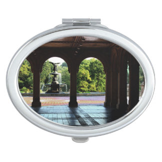 Photo of Bethesda Terrace in Central Park, NYC Compact Mirror