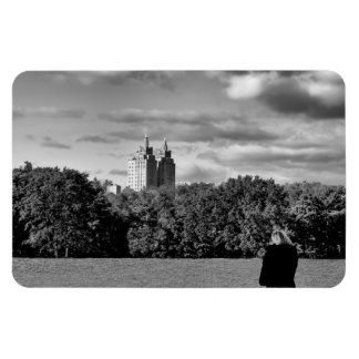 Photo of Central Park in Black and White Flexible Magnets