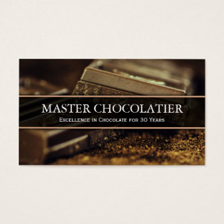 Photo of Dark Chocolate, Chocolatier Business Card