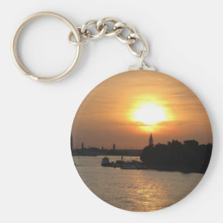 Photo of dramatic Sunset in Venice laguna, Italy Key Ring