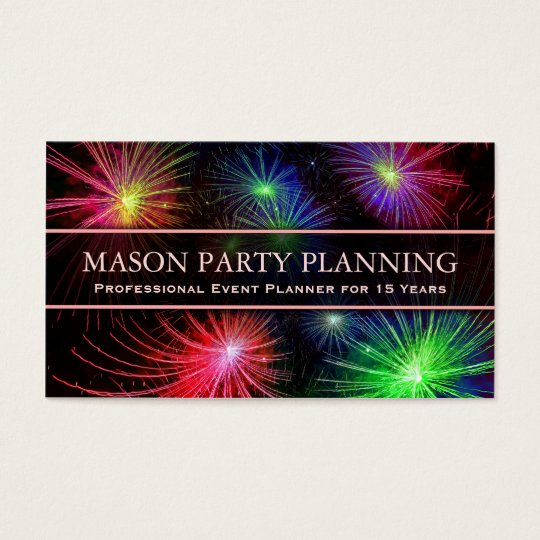 Photo of Fireworks Party Planner - Business Card