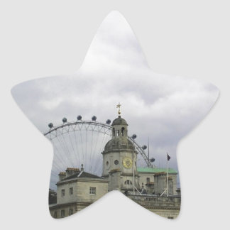 Photo of London with London eye in background Star Stickers