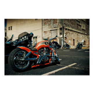 Photo of motorcycle. poster