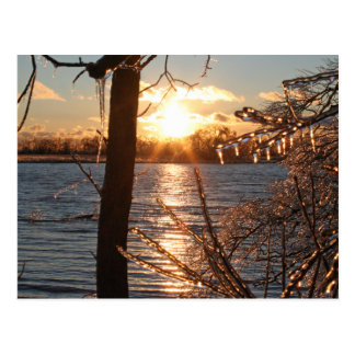 photo of river after an ice storm postcard