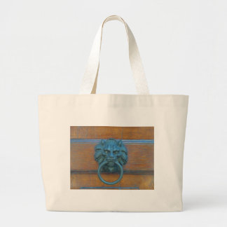Photo of rustic door decoration in Italy Europe Canvas Bags
