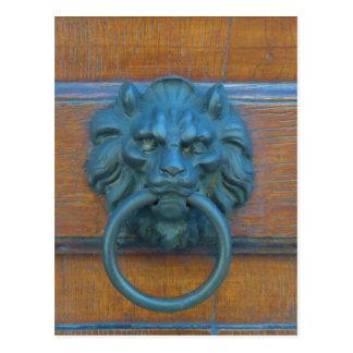 Photo of rustic door decoration in Italy, Europe Postcards