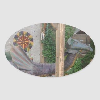 Photo of Samantha the Dragon Oval Sticker