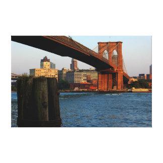 Photo of the Brooklyn Bridge in New York City Canvas Prints