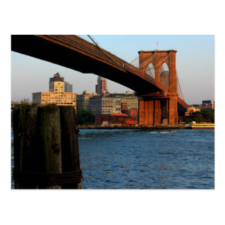 Photo of the Brooklyn Bridge in New York City Postcard