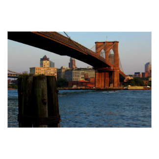 Photo of the Brooklyn Bridge in New York City Poster