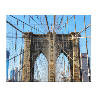 Photo of the Brooklyn Bridge in NYC Gallery Wrap Canvas