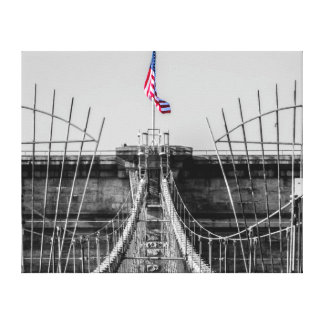 Photo of the Brooklyn Bridge in NYC Gallery Wrapped Canvas