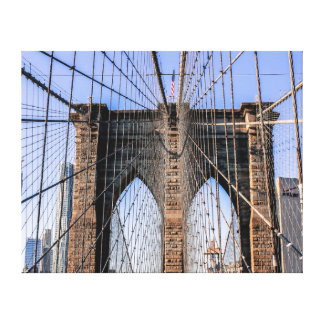 Photo of the Brooklyn Bridge in NYC Stretched Canvas Print