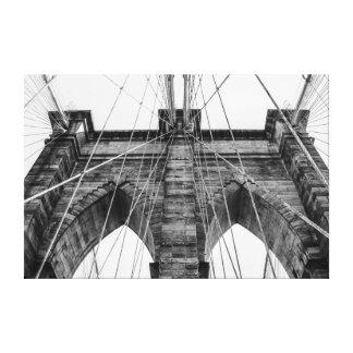 Photo of the Brooklyn Bridge in NYC Canvas Print
