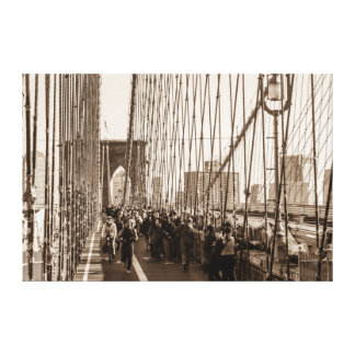 Photo of the Brooklyn Bridge in NYC Stretched Canvas Prints