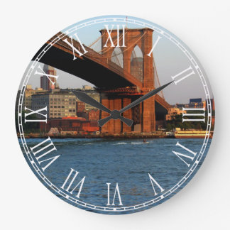 Photo of the Brooklyn Bridge in NYC Large Clock