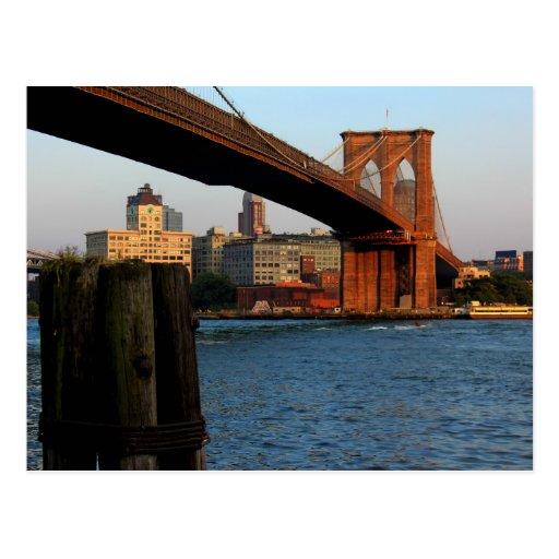 Photo of the Brooklyn Bridge in NYC Post Card